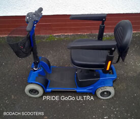 """MOBILITY SCOOTER. """"Car Boot"""". Refurbished by Bodach Scooters. Profits to Homelands Trust–Fife."""