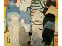 Large Bundle of Baby Boy Clothes - Tiny Baby - 6 months