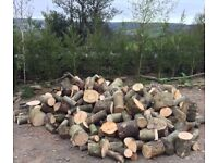 Hardwood Firewood logs Unsplit approximately 3 cubic meters