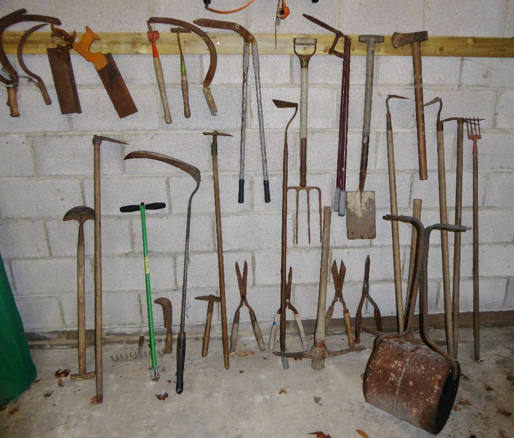 30 pieces vintage antique garden tools in poole dorset for Gardening tools vintage