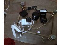 Samsung NX1000 20.3MP Digital Camera - White (Kit w/ NX 20-50mm Lens) + 50-200 OIS lens