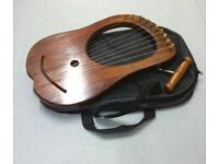 10 string lyre with case