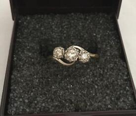 Vintage 18ct Gold Diamond Engagement Ring Size M1/2