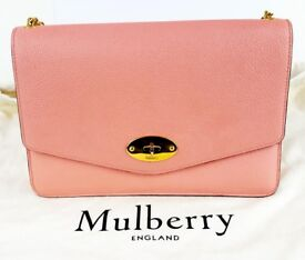 Mulberry Darley Handbag Clutch - Macaroon Pink - Dustbag & Chain