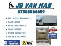 VAN MAN AND HOUSE REMOVALS LARGE LUTTON VAN TWO MAN TEAM PROFESSIONAL RELIABLE