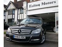 2013 MERCEDES C CLASS,DIESEL,AUTOMATIC SALOON,FULL OPTION,SAT NAV,LEATHER,LOW MILE,MERCEDES WARRANTY