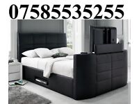 E LEATHER STORAGE TV BED FRAME + DELIVERY