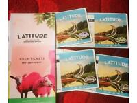 Latitude festival - weekend tickets (inc camping)