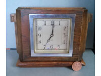antique 8 day wooden mantel clock