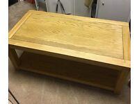 Solid Oak Coffee Table & Solid Oak Lamp Table