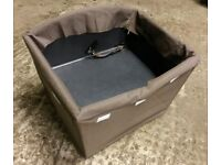 CAR SAFETY DOG BED WITH CAR SEAT BELT ATTACHMENT - KEEP YOUR DOG SAFE WHILE YOU TRAVEL