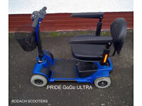 """MOBILITY SCOOTER. GoGo """"Car Boot"""". Refurbished by Bodach Scooters. Profits to Homelands Trust–Fife."""