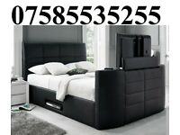 SALE BOSE LEATHER STORAGE TV BED FRAME + DELIVERY