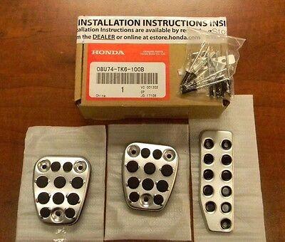 Genuine Honda OEM - Honda CR-V / Fit Manual Sport Pedal Covers - 08U74-TK6-100B