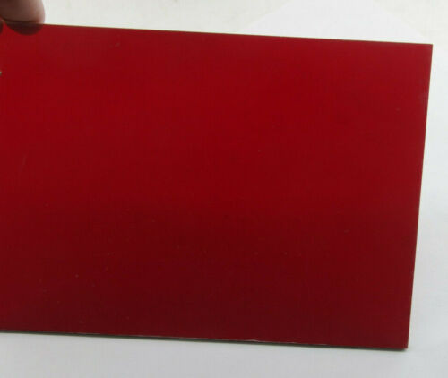 """4x5"""" Red Safelight Filter 1/8"""" Plastic - For Photo Darkrooms - NEW F07"""