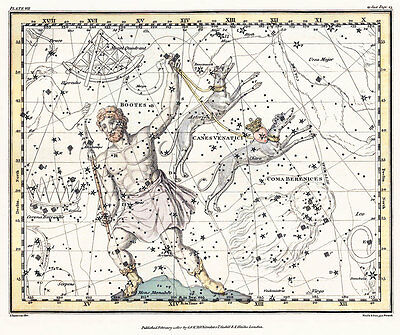 Astronomy Celestial Atlas Jamieson 1822 Plate-07 Art Paper or Canvas Print