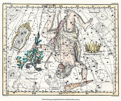 Astronomy Celestial Atlas Jamieson 1822 Plate-08 Art Paper or Canvas Print