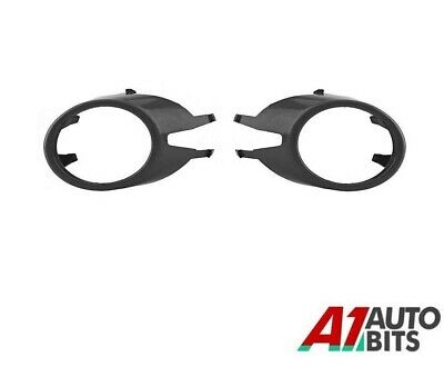 For Audi A4 B7 04-08 Front Fog Lamps Lights Bumper Grille Trim Bezel Pair L+R