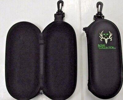 Radians Bone Collector BC-PU Zippered Sunglass Case With Green (Pu Sunglasses Case With Zipper)