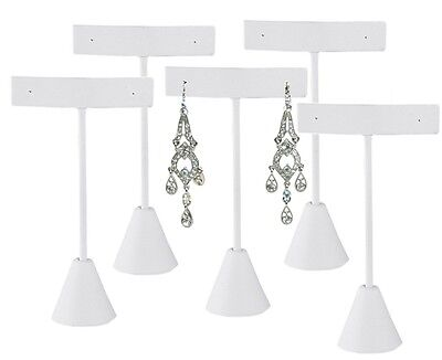Lot Of 5 White Earring Display White Stand Earring Tree Earring Stand 4 34h
