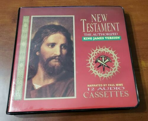 The Cassette Bible King James Version KJV New Testament-12 Audio Cassettes Tapes