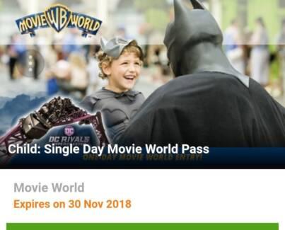 Movie World one Child Ticket