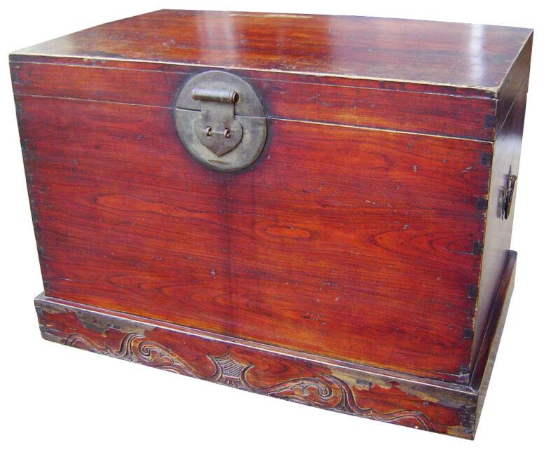 Antique Chinese Antique Ming Trunk (3110), Zelkova Wood, Circa 1800-1849