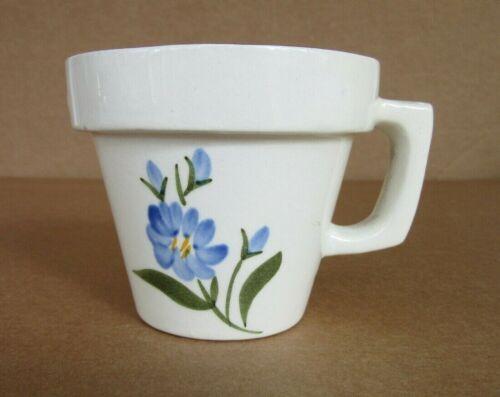 "Stangl Pottery Chicory Motif Flowerpot Mug 3"" Votive Candle Holder, Very Rare"