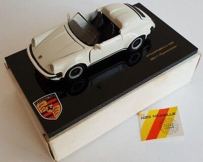Porsche 911 Speedster, 1:43 weiß - Acrylplatte, NZG, Neu in OVP
