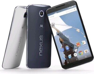 Motorola Nexus 6 Xt1103 32Gb 64Gb  Factory Unlocked  Blue White  T Mobile At T