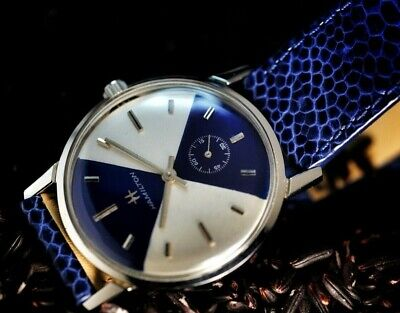 Vintage {FULLY SERVICED} 1964 Hamilton ThinLine <STUNNING BLUE & SILVER DIAL>