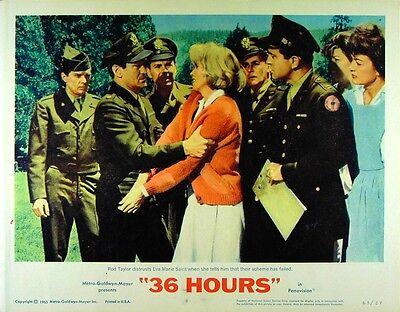 36 HOURS 1965 James Garner, Rod Taylor, Eva Marie Saint, Raold Dahl LOBBY SET