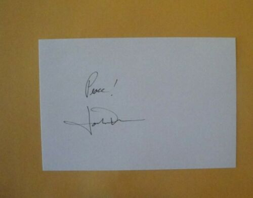 JOHN DENVER SIGNED 4x6 INDEX CARD AUTOGRAPH