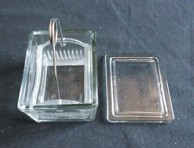 Wheaton 10-20 Slide Glass Staining Dish W Lid Tray And Handle 900200