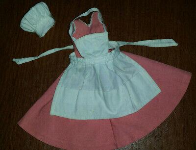 Barbie ORIGINAL 1962 ROSE COTTON DRESS & White Apron & Hat Only to BARBIE-Q #962