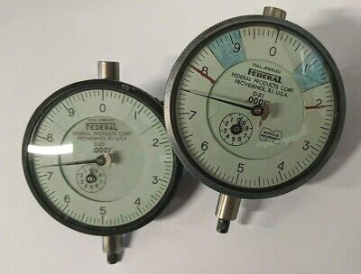 "Standard Gage Company No 1X Back Plunger Dial Indicator .0001/"" 0-.025/"" Range"