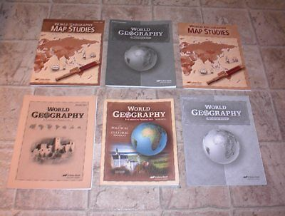 ABEKA 9th GRADE WORLD GEOGRAPHY  NO MISSING PAGES NO WRITING for sale  Tacoma