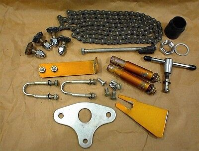 VINTAGE SCHWINN EXERCISER STATIONARY BICYCLE BIKE PARTS LOT CHAIN HARDWARE BOLTS