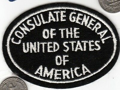 CONSULATE GENERAL of the United States America Department of State Police Patch