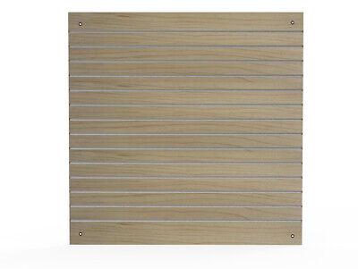 Slatwall Panel Oak 48x48 4x4 Aluminum Channels Wall Display Merchandising