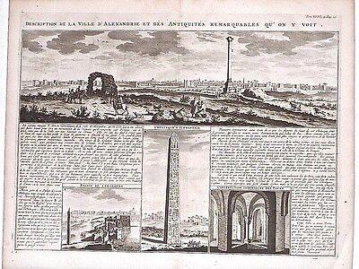 Antique map, Description de la ville d'Alexandrie