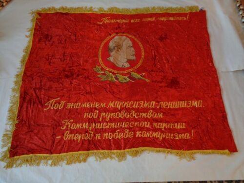 // Original Genuine USSR Red FLAG Banner Soviet Russian Communist Propaganda