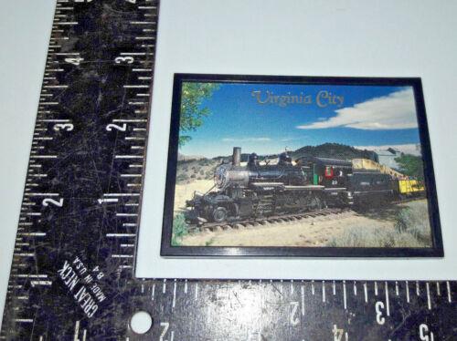 Virginia City Train Engine Railroad Refrigerator Magnet made in usa