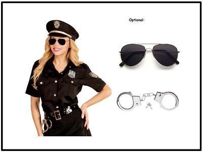 Polizistin Damen Kostüm - Polizei Uniform Bluse mit Hut - Karneval Fasching, (K) ()