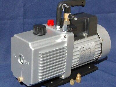 Rotary Vane Vacuum Pump 12cfm 34hp 29hg Hvac Milker Machine Hookupcheck Valve