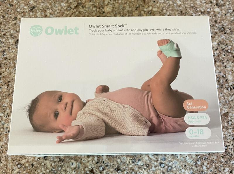 Owlet Smart Sock 3rd Gen Heart Rate & Oxygen Level Baby Monitor - FACTORY SEALED