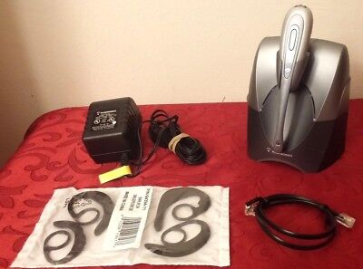 PLANTRONICS CS55 TESTED N EW EARLOOPS WIRELESS HEADSET SYSTEM POWER ADAPTER