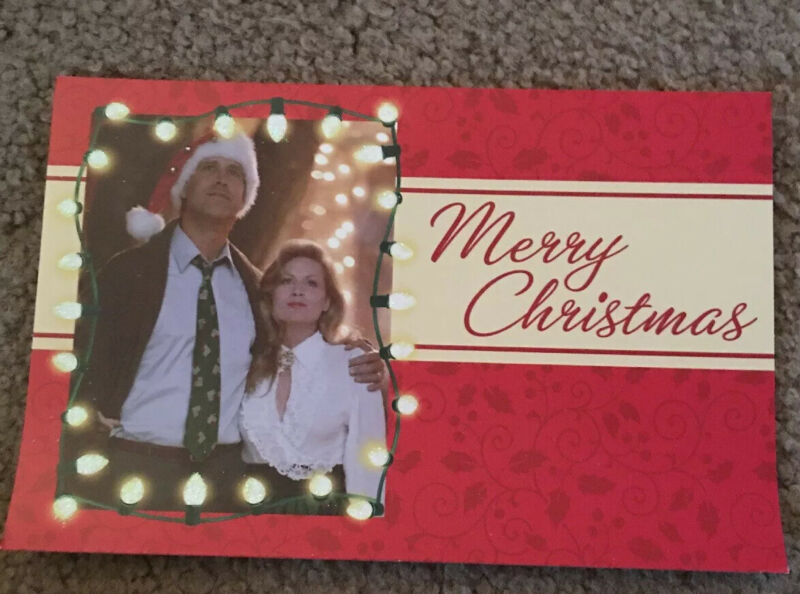 Set Of 5 Christmas Vacation Cards W/ Env Chevy Chase Lighted House Holiday Movie