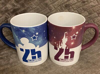 Disneyland Paris 25th Anniversary Mugs X 2