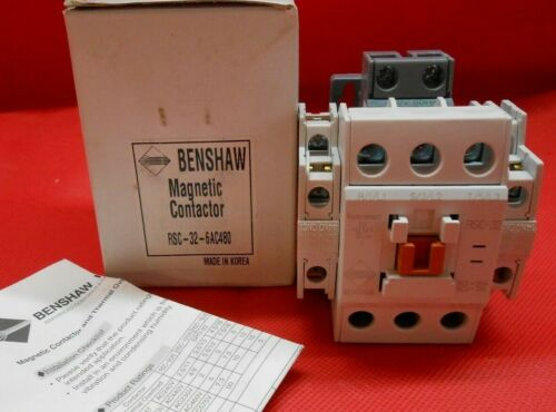 BENSHAW  RSC-32-6AC480  MAGNETIC CONTACTOR 480V NEMA 1 - NEW IN BOX